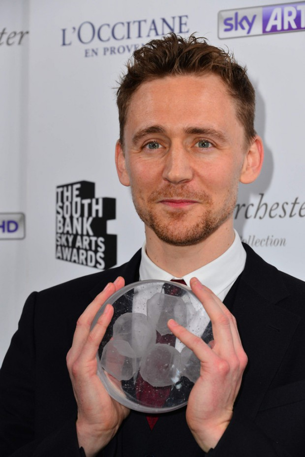 Tom with his Sky Arts award