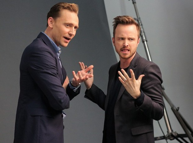Tom Hiddleston and Aaron Paul