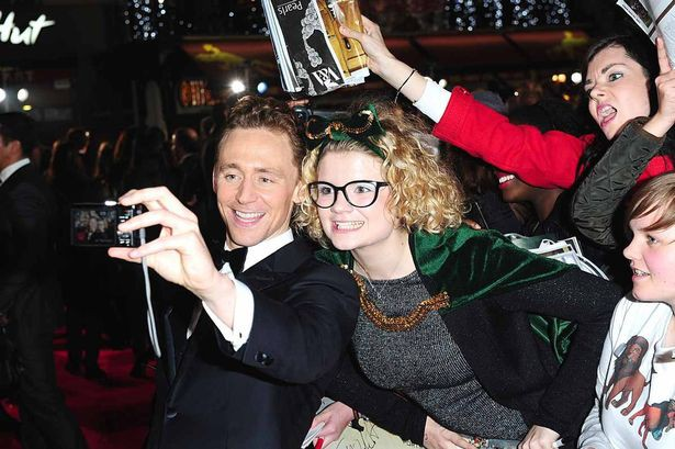 Tom's selfie with fans