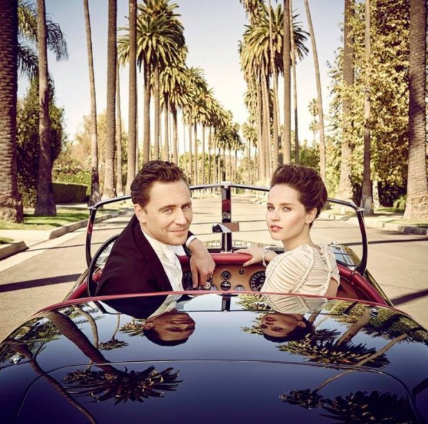 Tom and Felicity Jones in The 2015 Vanity Fair