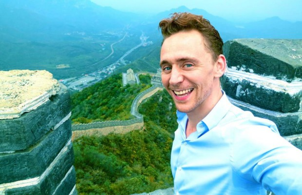 Tom Hiddleston at The Great Wall of China