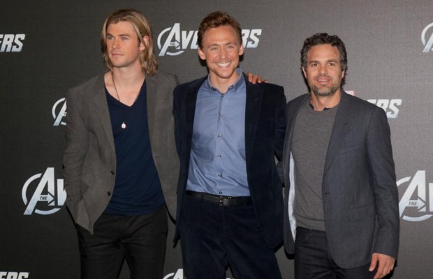 Tom with Chris Hemsworth and Mark Ruffalo