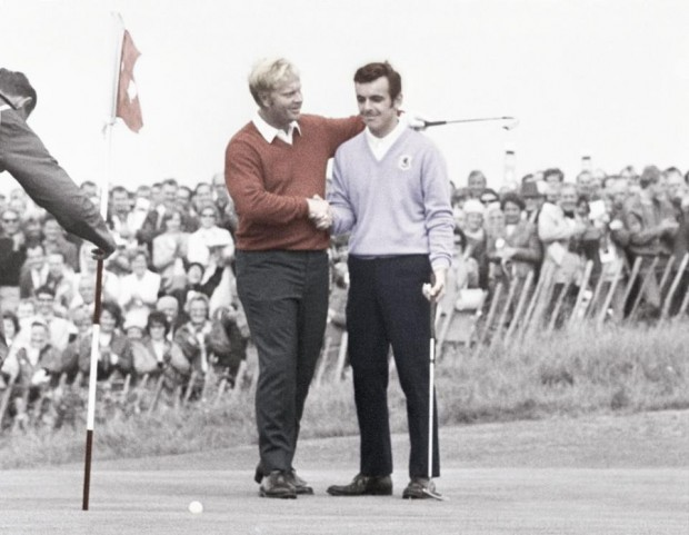 Jack with Tony Jacklin during 1969 Ryder Cup