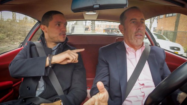 Jerry Seinfeld and Trevor Noah for an interview