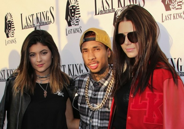 Tyga with Kylie and kendall Jenner