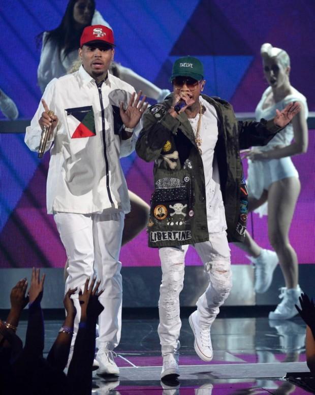 Tyga and Chris Brown at BET Awards