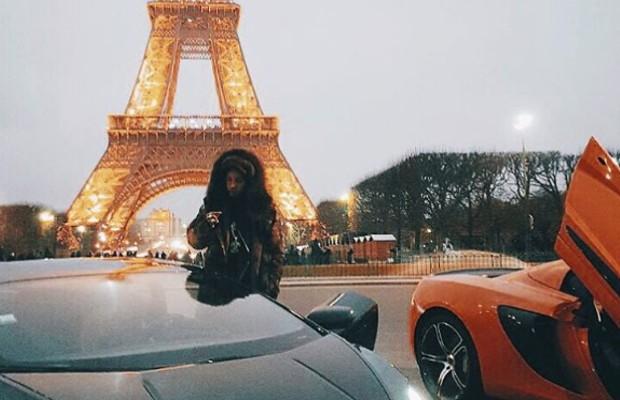 Tyga at Eiffel Tower