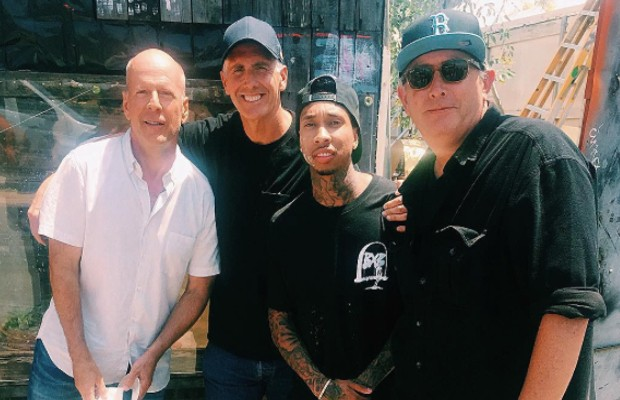 Tyga with Bruce Willis