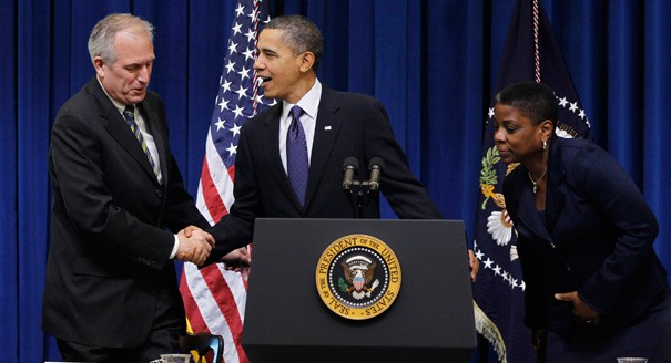 Ursula Burns With Barrack Obama