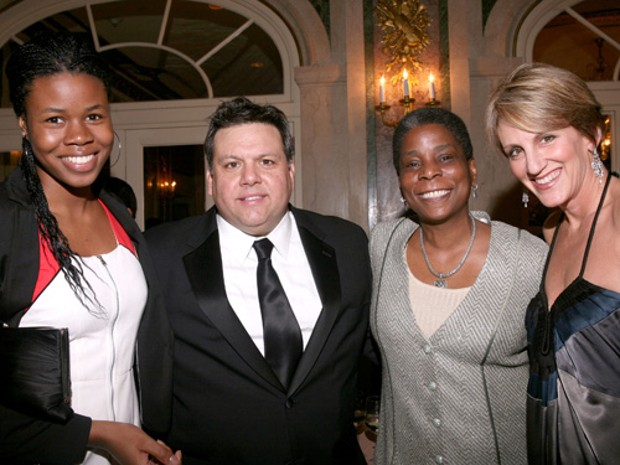 Tara Burns, David Garza, Ursula Burns and Angela Mariani