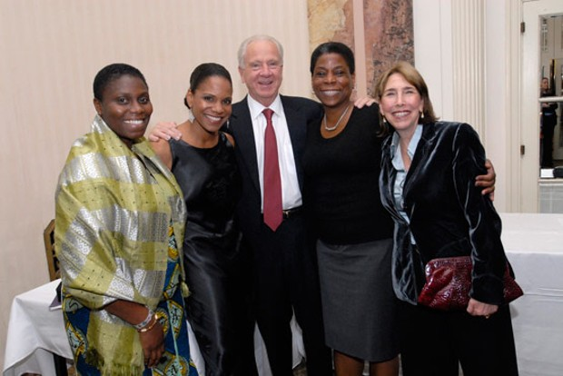 Ursula Burns With Nana Beecham, Audra McDonald, Joe Cahalan and Carolyn Perla