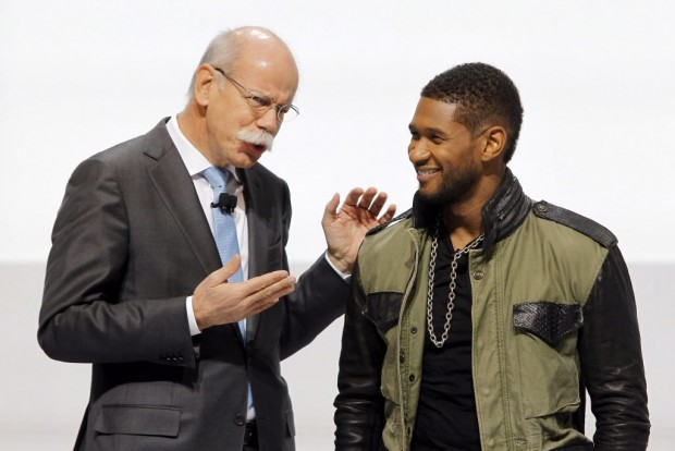 Dieter Zetsche talking with USher