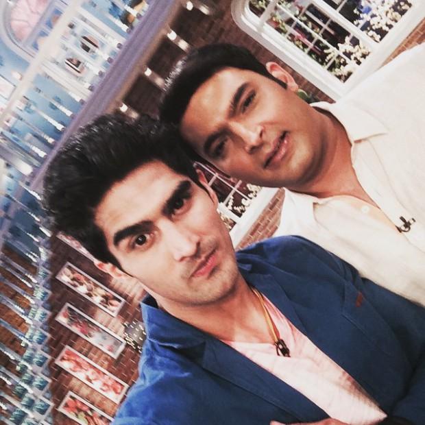 Vijender Singh on sets of Kapil Sharm's Show with Kapil