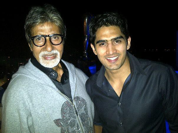 Vijender Singh with Indian Film legend Amitabh Bachchan