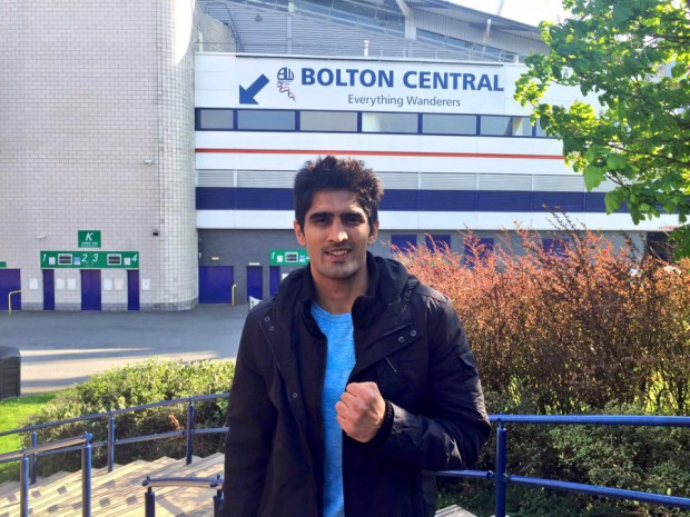 Vijender at Bolton Central