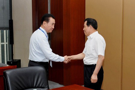 Wang Jianlin meets with Jinzhou Party Secretary
