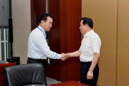 Wang Jianlin meets with Jinzhou Party Secretary