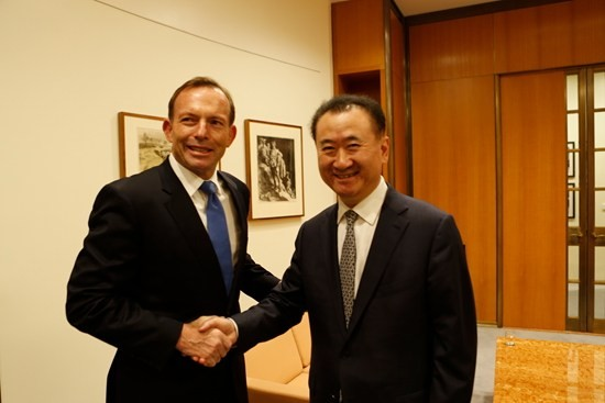 Andrew Robb with Wang Jianlin
