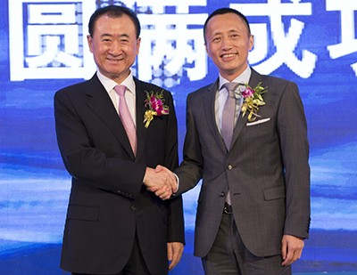 Wang Jianlin with Yu Liang