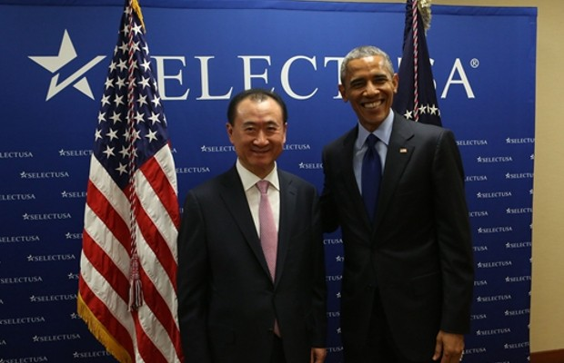 US President Barack Obama meets Wang Jianlin