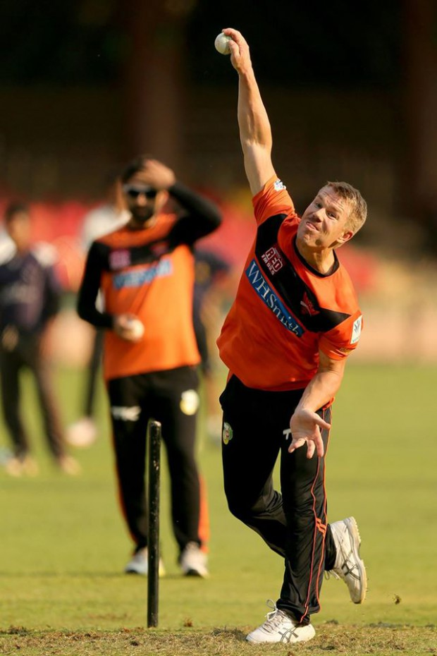 Liitle bit of bowling practice by warner