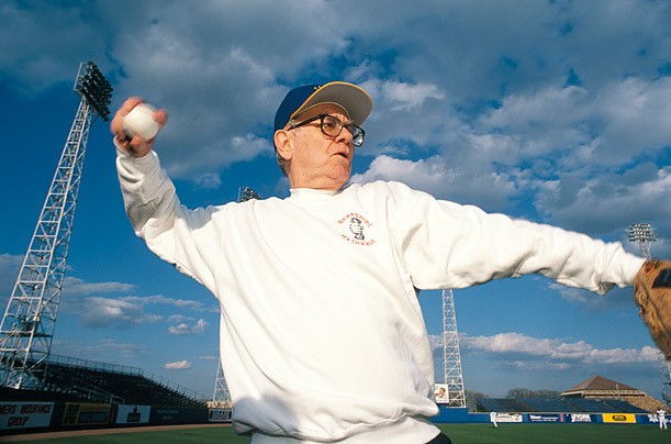 Warren Buffett while playing a Baseball Game in 1997