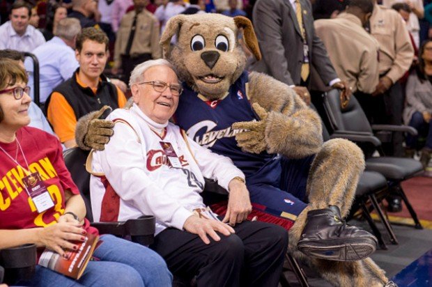 Warren Buffett during a Basketball Game