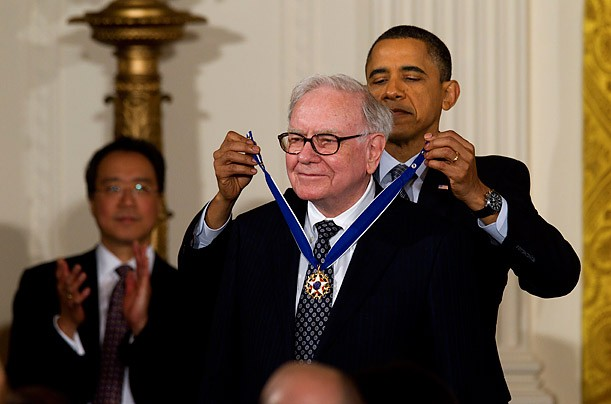 Warren Buffett Honored with Presidential Medal of Freedom By US President Barck Obama