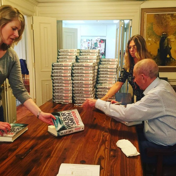 Wilbur Smith for book signing