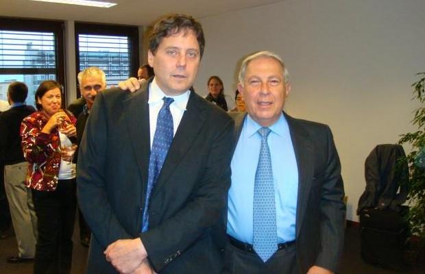 James Love and Dr. Yusuf K. Hameid of CIPLA at DNDi Geneva