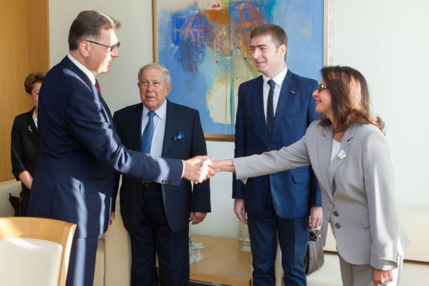 Lithuania Prime Minister Algirdas Butkevi?ius met with Yusuf K. Hamied