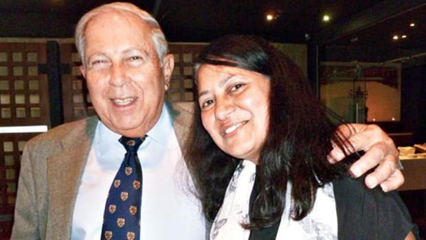 Yusuf Hamied with Sunetra Gupta