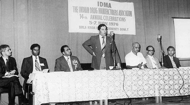 Yusuf Hamied addressing the Indian Drug Manufacturers Association, 1976