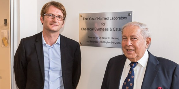 Mr. Yusuf Hamied at Inagural of The Yusuf Hamied Laboratory for Chemical Synthesis & Catalysis