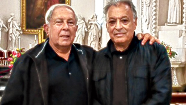 Yusuf Hamied with Zubin Mehta in Vilnius