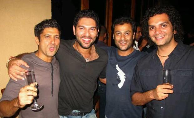 Yuvraj Singh With Farhan Akhtar