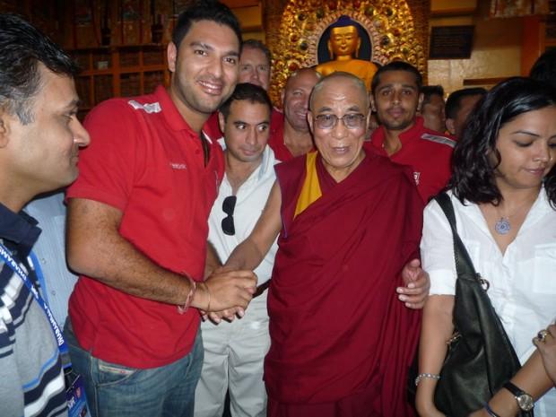 Yuvraj Singh With Dalai Lama