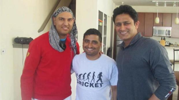 Yuvraj Singh With Anil Kumble