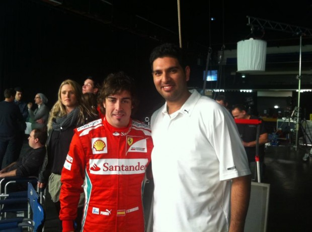 Yuvi with Fernando Alonso