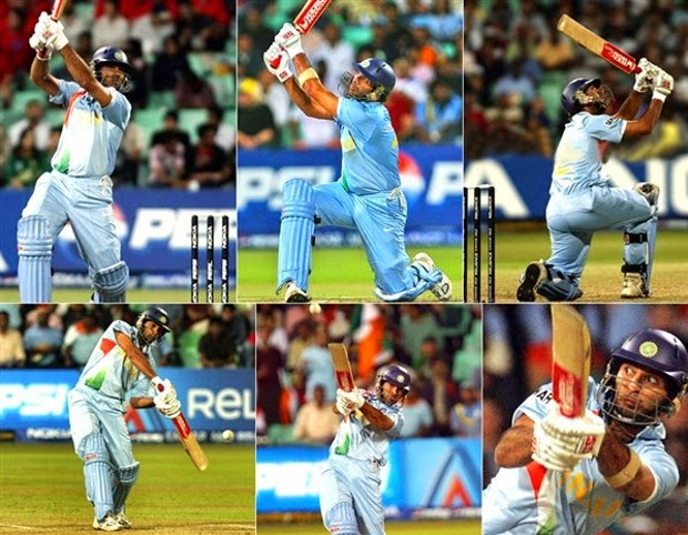 Yuvraj Singh Six Sixes Against England