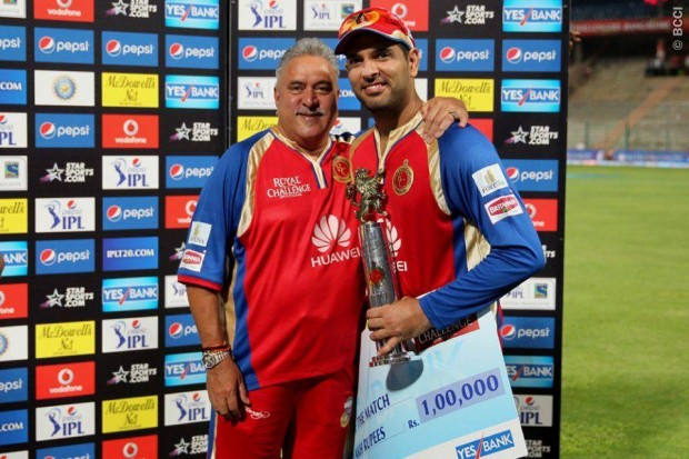 Yuvi With Vijay Mallya