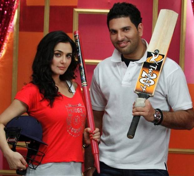 Yuvraj Singh and Priety Zinta