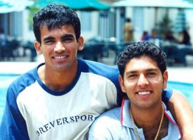 Yuvraj Singh With Zahir Khan