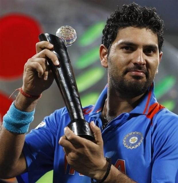 Yuvraj Singh With Trophy