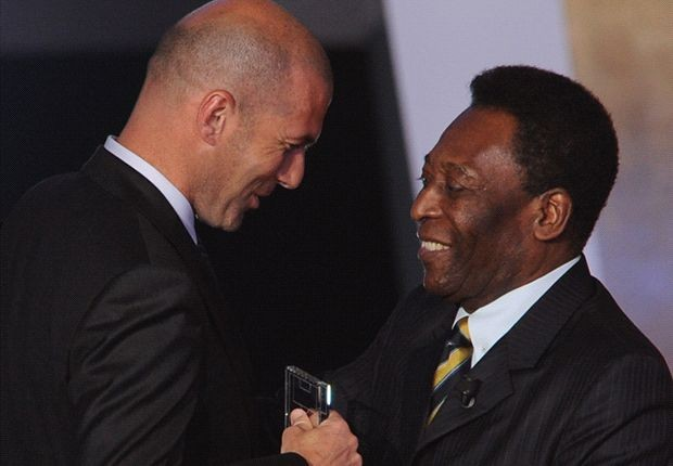 Pele with Zidane