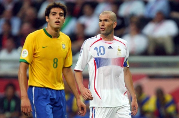 Kaka with Zidane