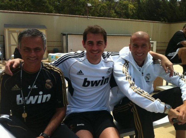 Jose Mourinho, Zinedine Zidane and Kaka