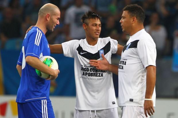 Neymar with Zidane and Ronaldo