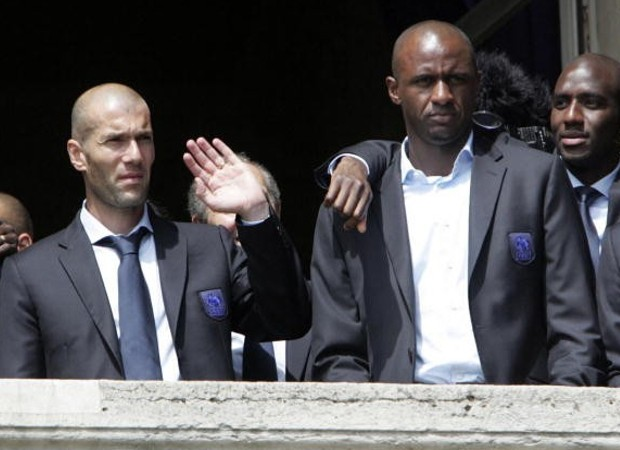Patrice Viera with Zidane