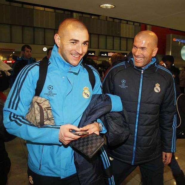 Karim Benzema with Zinedine Zidane